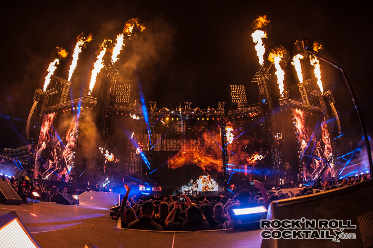 Metallica performs at CBS' The Night Before, AT&T Park, San Francisco. Photo by Jason Miller