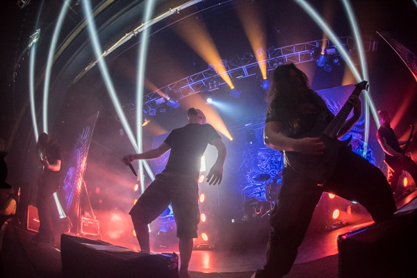 Exclusive photos of Meshuggah performing live at the O2 Forum Kentish Town in London shot by Jason Miller